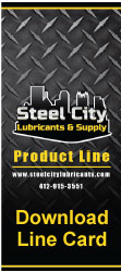 Steel City Lubricants and Supply Line Card